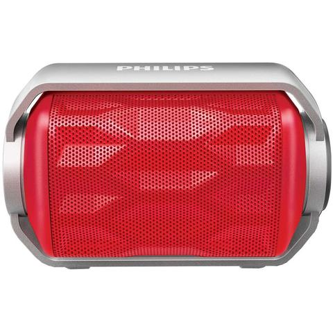 Imagem de Caixa de Som Portátil Philips, 2,8 Watts, Bluetooth, À Prova dágua, Vermelho - BT2200R