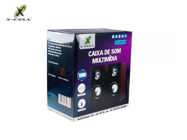 Imagem de Caixa de Som Potente 10w rms de Madeira Notebook Pc CM-14