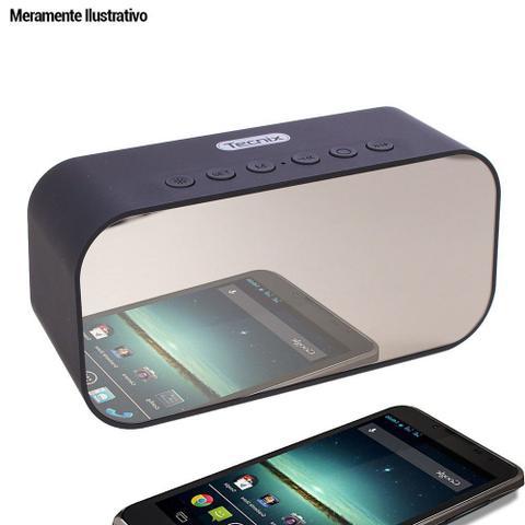 Imagem de Caixa De Som Rádio Relógio Despertador Bluetooth USB SD