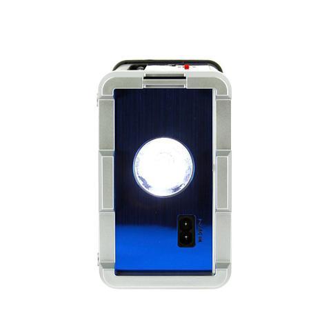 Imagem de Caixa De Som Retrô Portátil Com Entrada USB e Lanterna - Azul - RAD-8142 - Inova