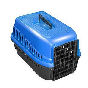 Imagem de Caixa De Transporte N.2 Cão Cachorro Gato Pequena Azul