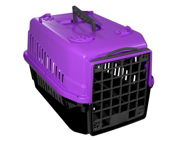 Imagem de Caixa De Transporte N.2 Cão Cachorro Gato Pequena Lilas Pet Viagem