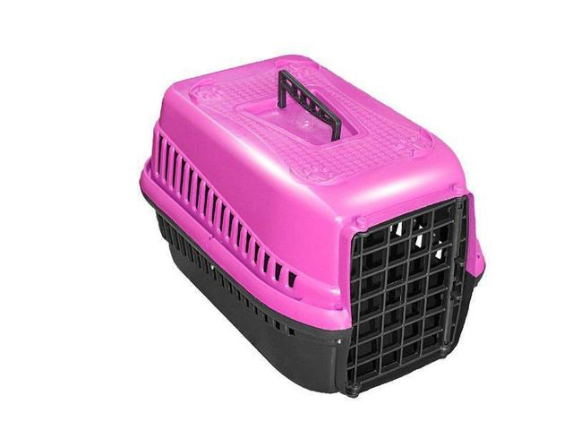 Imagem de Caixa De Transporte N.2 Cão Cachorro Gato Pequena Rosa