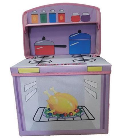 Imagem de Caixa fogãozinho cozinha infantil porta brinquedos organibox