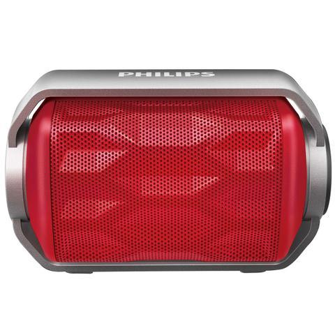 Imagem de Caixa Multimídia 2,8W Bluetooth Vermelha Bt2200r-00 Philips