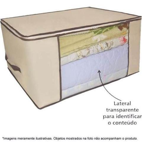 Imagem de Caixa organizador guarda roupa flexivel com ziper multiuso compact armario chao closets dobravel