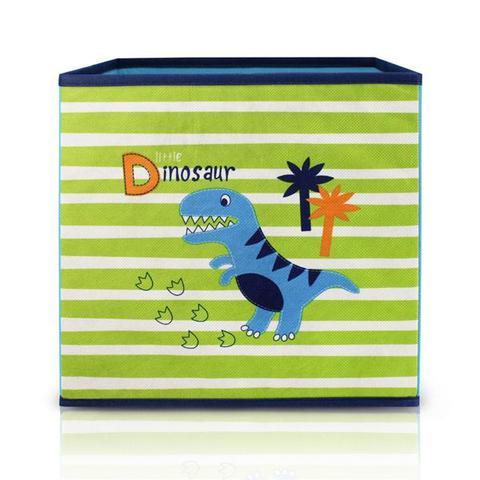 Imagem de Caixa organizadora bau container infantil criança porta trecos brinquedos desmontável meninos dino j