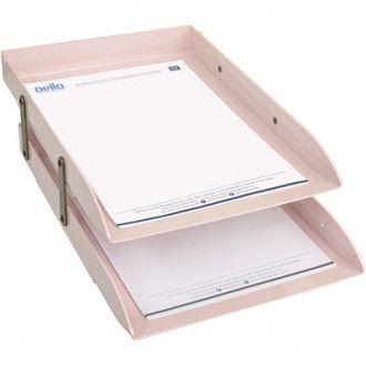 Imagem de Caixa para correspondência articulável dello rosa pastel dupla
