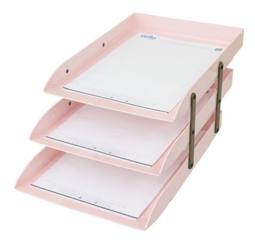 Imagem de Caixa para correspondência articulável dello rosa pastel tripla