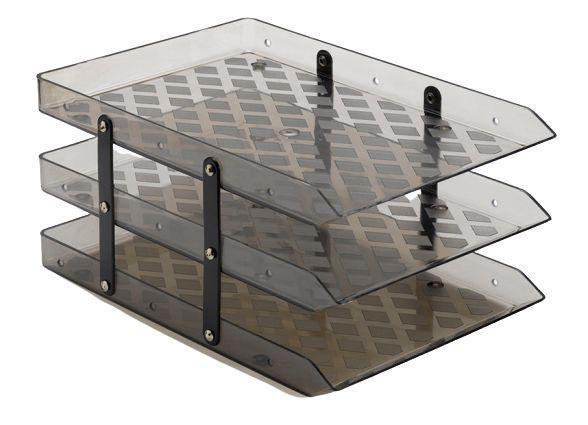 Imagem de Caixa para correspondência tripla móvel fumê