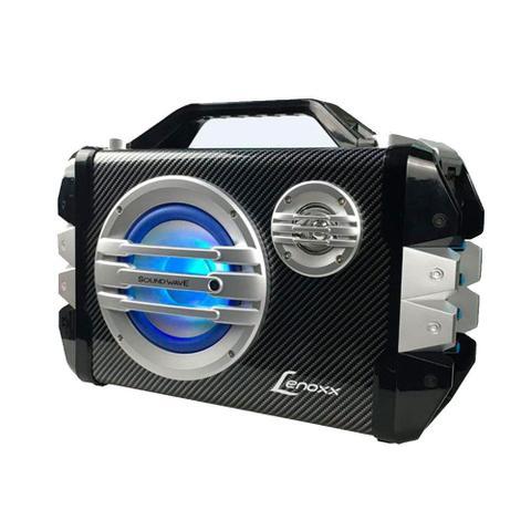 Imagem de Caixa Portátil Multiuso Bluetooth Rádio Fm Usb Lenoxx