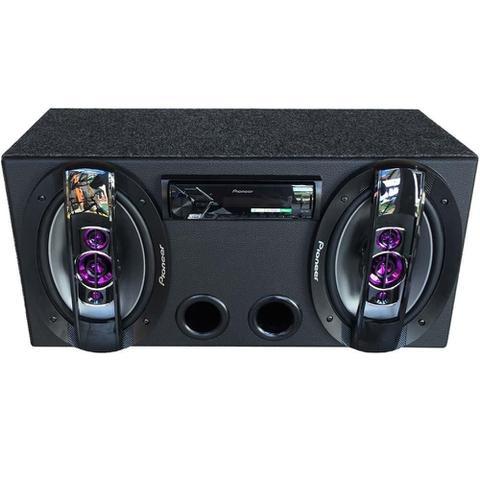 Imagem de Caixa Residencial 2 6x9 Pioneer + Fonte + Player Pioneer