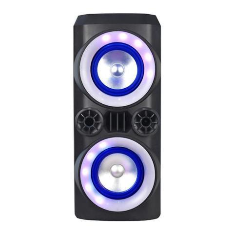 Imagem de Caixa Som Amplificada 300w Mini Torre Microfone Bateria Bluetooth Cabo Bivolt 110v 220v Festa Praia