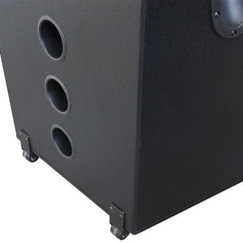 Imagem de Caixa Som Amplificada Bluetooth 3000W Rms 6 Subwoofer Led 2 Microfone Sem Fio Amvox ACA 3000 Paredão