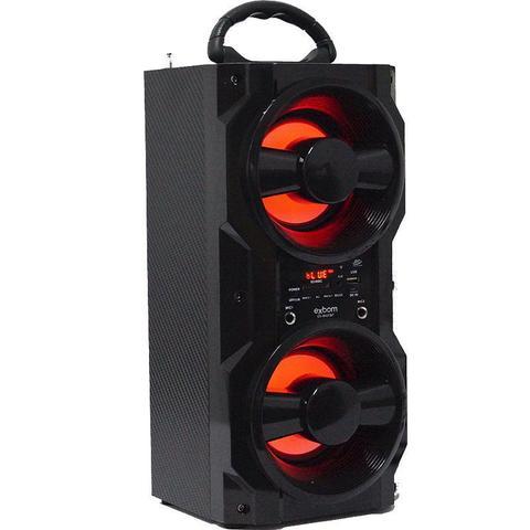 Imagem de Caixa Som Amplificada Portátil Bluetooth Mp3 Fm Usb Sd Aux Bateria 10W Rms Exbom Preta CS-M437BT