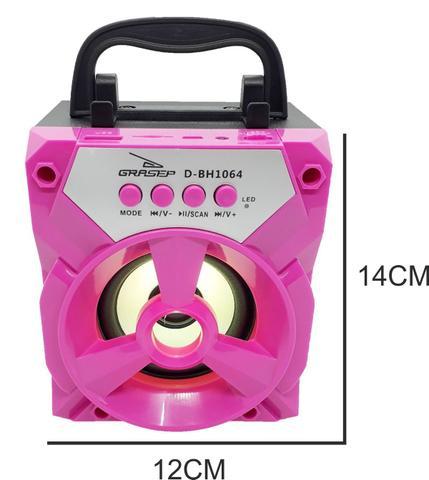Imagem de Caixa som bluetooth radio fm cartão sd portatil recarregavel