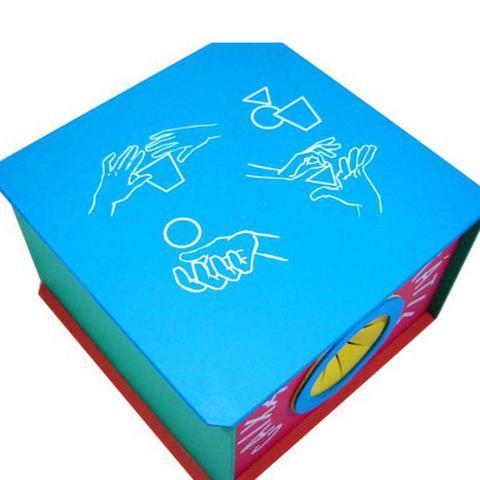 Imagem de Caixa Tátil - Madeira - Multicolorido - Planeta Brinquedos