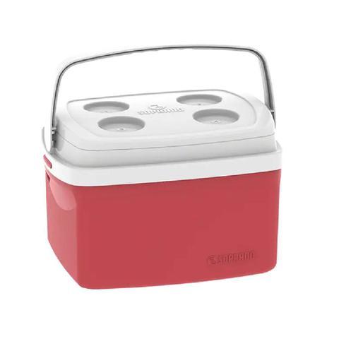 Imagem de Caixa Térmica 12L Cooler com Alça Tropical Vermelha Soprano