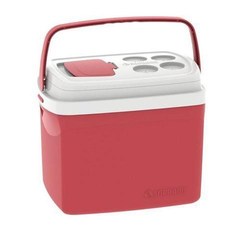 Imagem de Caixa Térmica 32 Litros Cooler Tropical Vermelha Soprano