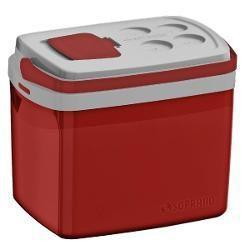 Imagem de Caixa Térmica 32 Litros Vermelha - Soprano