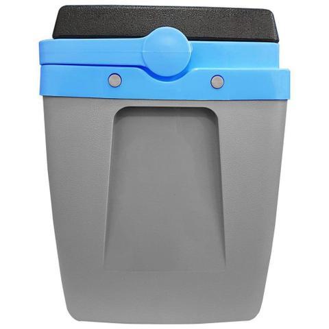 Imagem de Caixa Térmica 34 Litros Cinza e Azul com Alça Mor