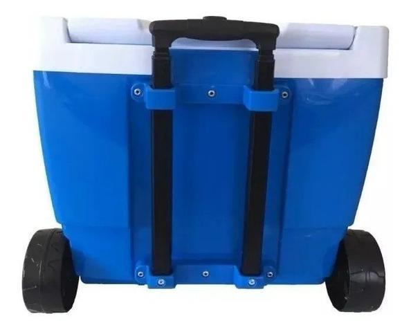 Imagem de Caixa Térmica 42 Litros com Rodas e Alça Azul MOR