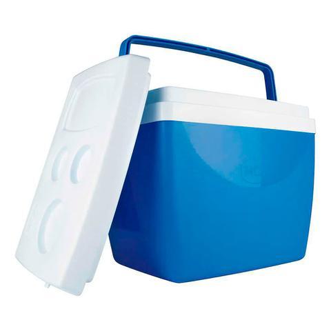 Imagem de Caixa Térmica Alça Polipropileno Azul 34 litros Mor
