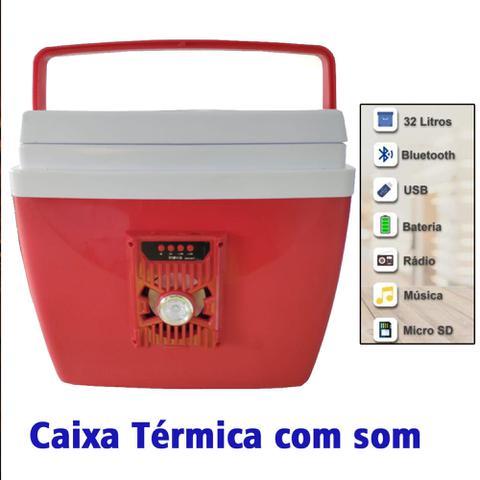 Imagem de Caixa Térmica Com Som Bluetooth 34 Litros
