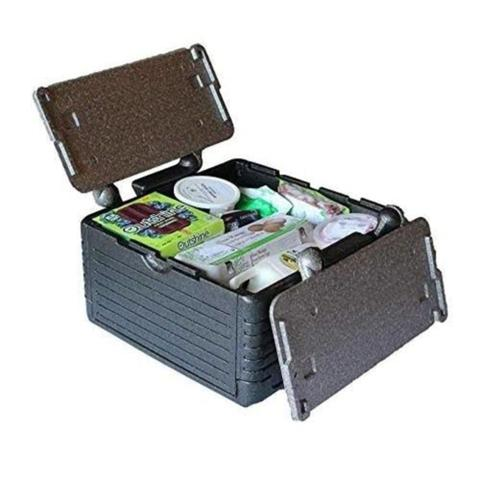 Imagem de Caixa termica conservadora grande dobravel portatil para 45 latas 24 litros ice cooler quente e frio com tampa praia passeio