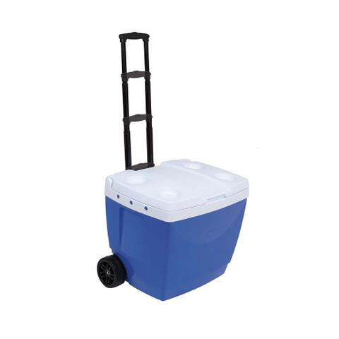 Imagem de Caixa Térmica Cooler Com Rodinhas e Puxador Azul 42 L Mor