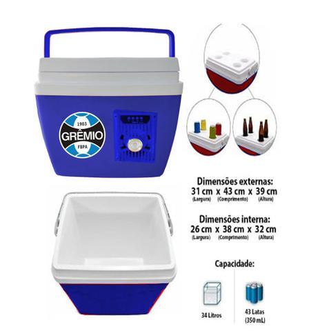 Imagem de Caixa Térmica Gremio Com Som Bluetooth 34 Litros