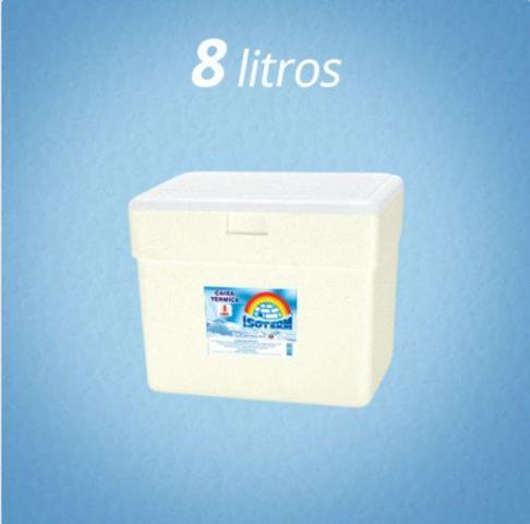 Imagem de Caixa Térmica Isopor 8 Litros Gelo Cerveja Refri Isoterm
