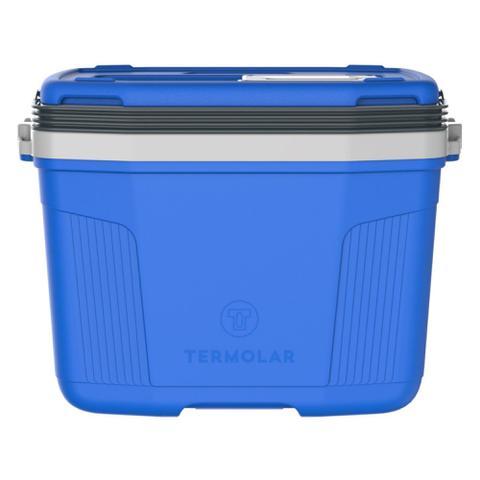 Imagem de Caixa Térmica Suv 32 Litros Termolar Cooler C/ Alça Camping Pesca Praia Churrasco AZUL