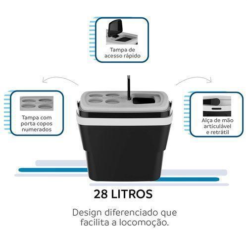 Imagem de Caixa Térmica Tropical 28 Litros Soprano -  Preto