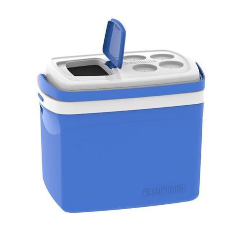 Imagem de Caixa Térmica Tropical 32 Litros Azul Com Alça Soprano