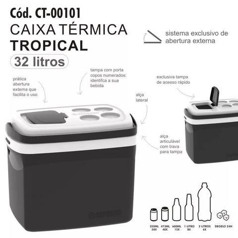 Imagem de Caixa Térmica Tropical 32 Litros Soprano - Preto