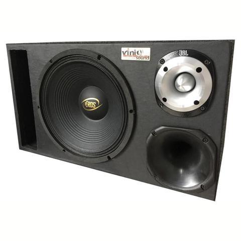 Imagem de Caixa Trio Eros E-450LC Black 12 Po + D250x + St400 + Módulo Soundigital