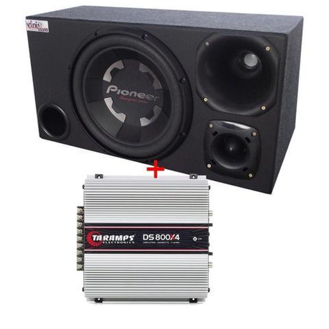 Imagem de Caixa Trio Sub Pioneer Ts-W300 400WRMS 12 Pol + D250x + St200 + Modulos Taramps