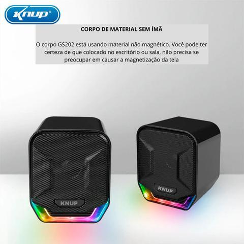Imagem de Caixas de Som PC Notebook Amplificada Led Original Premium