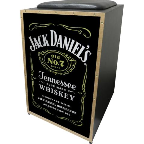 Imagem de Cajon Acústico Inclinado Profissional K2 Cor-008 Jack Daniels Jaguar