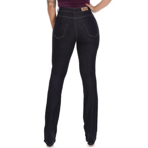 Imagem de Calça Flare Jeans Feminina Super Lipo Sawary Com Cinta Modeladora