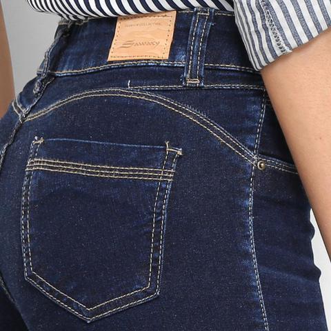 Imagem de Calça Jeans Cigarrete Sawary Básica Cintura Baixa Feminina