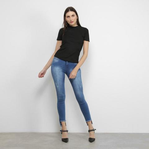 Imagem de Calça Jeans Coffee Skinny Barra Mullet Feminina