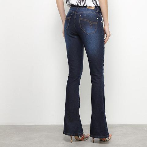 Imagem de Calça Jeans Flare Zune Estonada Cintura Baixa Feminina