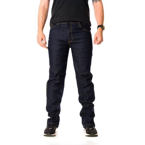 Imagem de Calça Jeans Plus Size Masculina Tradicional Elastano Petrol