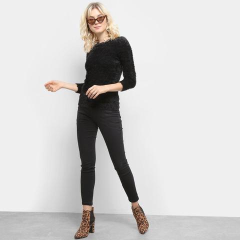 Imagem de Calça Jeans Sawary Cigarrete Cintura Alta Feminina