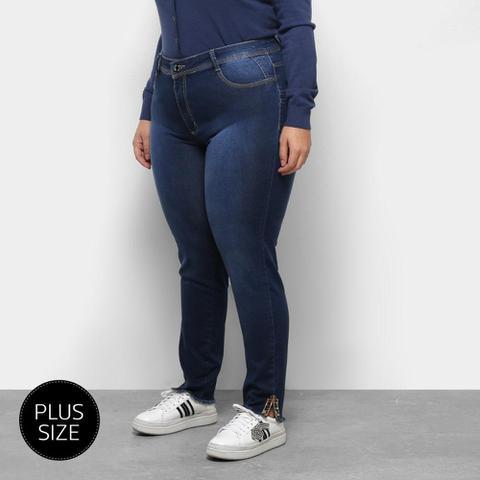 Imagem de Calça Jeans Sawary Cigarrete Plus Size Onça feminina