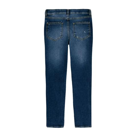 Imagem de Calça Jeans Skinny Infantil Menino Com Respingos Play Jeans Hering Kids