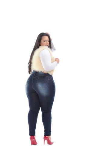 Imagem de Calça Jeans Skinny Plus Size C/cinta Modeladora Ref. 143