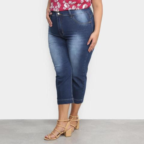 Imagem de Calça Jeans Xtra Charm Plus Size Cropped + Cinta Modeladora Feminina